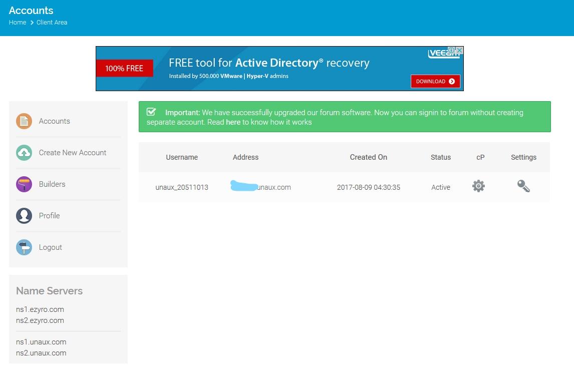 ProFreeHost免費不限流量和空間的網路虛擬主機 5