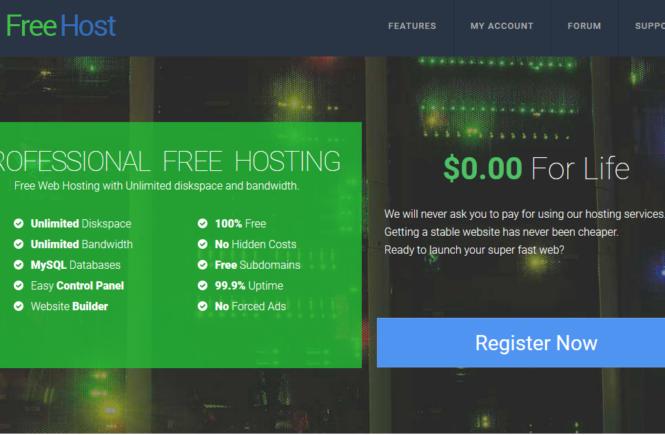 ProFreeHost免費不限流量和空間的網路虛擬主機 1