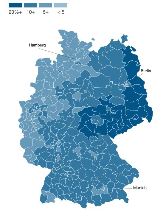 為什麼前東德地區更傾向於支持極右翼政黨? 3